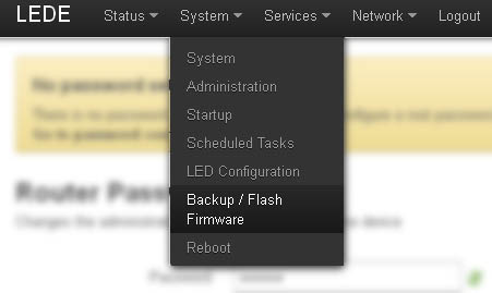 openwrt-Backup / Flash Firmware